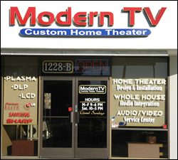 Modern TV Custom Home Theater Storefront